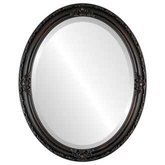 Jefferson Beveled Oval Mirror Frame in Rubbed Bronze