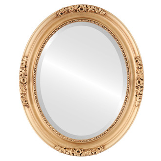 Versailles Beveled Oval Mirror Frame in Gold Paint