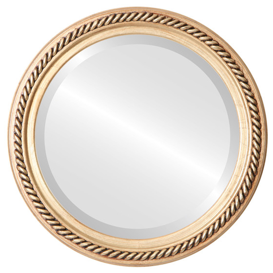 Gold Round Mirrors from $164| Santa-Fe Gold Leaf| Free Shipping