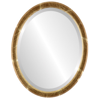 Toronto Beveled Oval Mirror Frame in Champagne Gold
