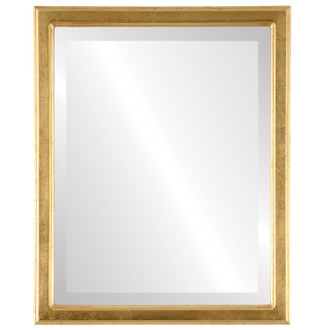 Toronto Beveled Rectangle Mirror Frame in Gold Leaf