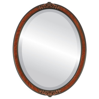 Athena Beveled Oval Mirror Frame in Vintage Walnut