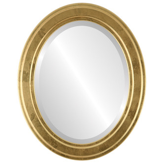 Wright Beveled Oval Mirror Frame in Champagne Gold