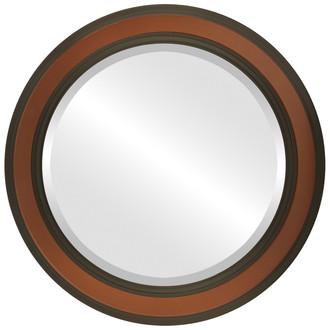 Wright Beveled Round Mirror Frame in Walnut
