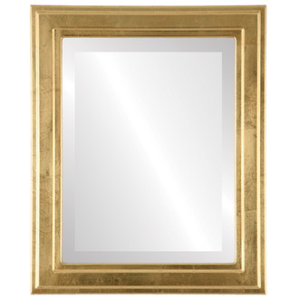 Wright Beveled Rectangle Mirror Frame in Gold Leaf