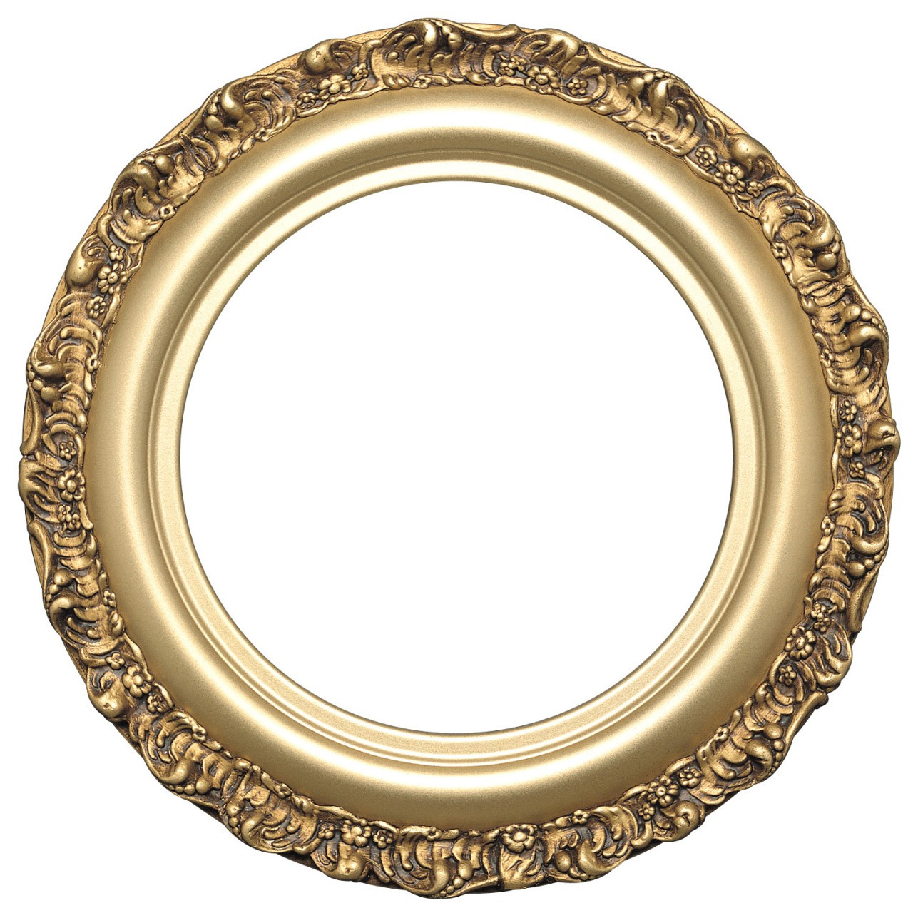 round frame in gold spray finish gold paint wooden. Black Bedroom Furniture Sets. Home Design Ideas