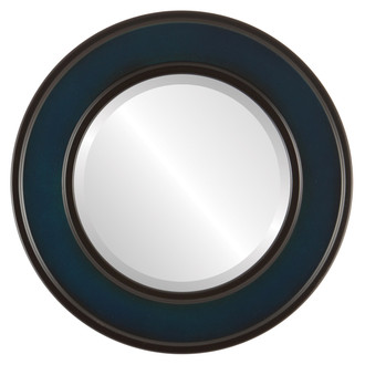 Montreal Beveled Round Mirror Frame in Royal Blue