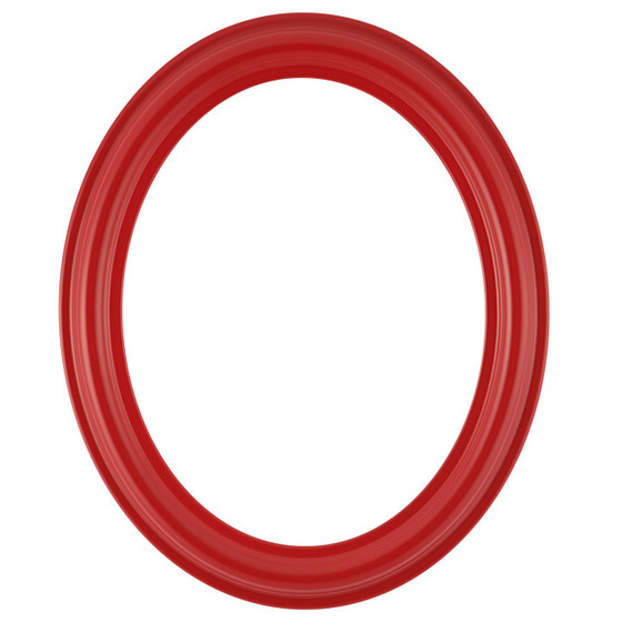 Oval Frame In Holiday Red Finish Red Picture Frames