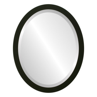 Manhattan Beveled Oval Mirror Frame in Matte Black