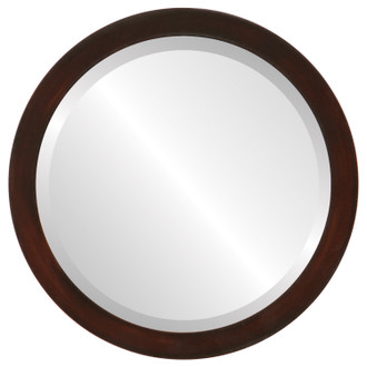 Manhattan Beveled Round Mirror Frame in Mocha