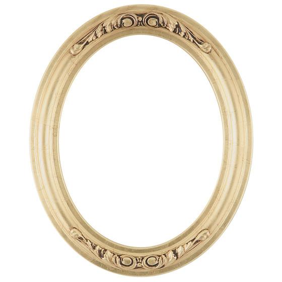 florence oval frame 461 gold leaf