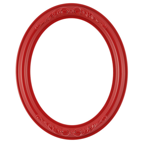 Oval Frame in Holiday Red Finish| Red Picture Frames with Ornate ...