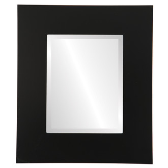 Tribeca Beveled Rectangle Mirror Frame in Matte Black