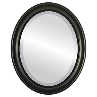 Messina Beveled Oval Mirror Frame in Matte Black