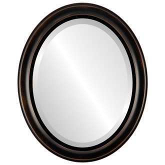Messina Beveled Oval Mirror Frame in Rubbed Bronze