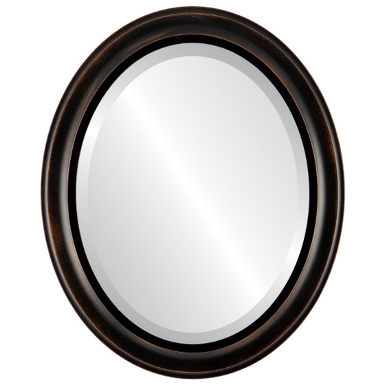 Black Oval Mirrors from $97| Messina Rubbed Bronze| Free Shipping