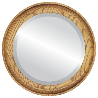 Vancouver Beveled Round Mirror Frame in Carmel