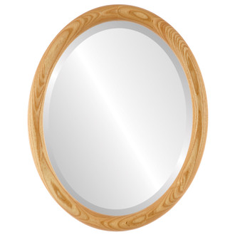 Sydney Beveled Oval Mirror Frame in Honey Oak