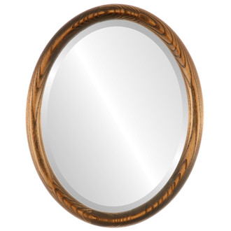 Sydney Beveled Oval Mirror Frame in Toasted Oak