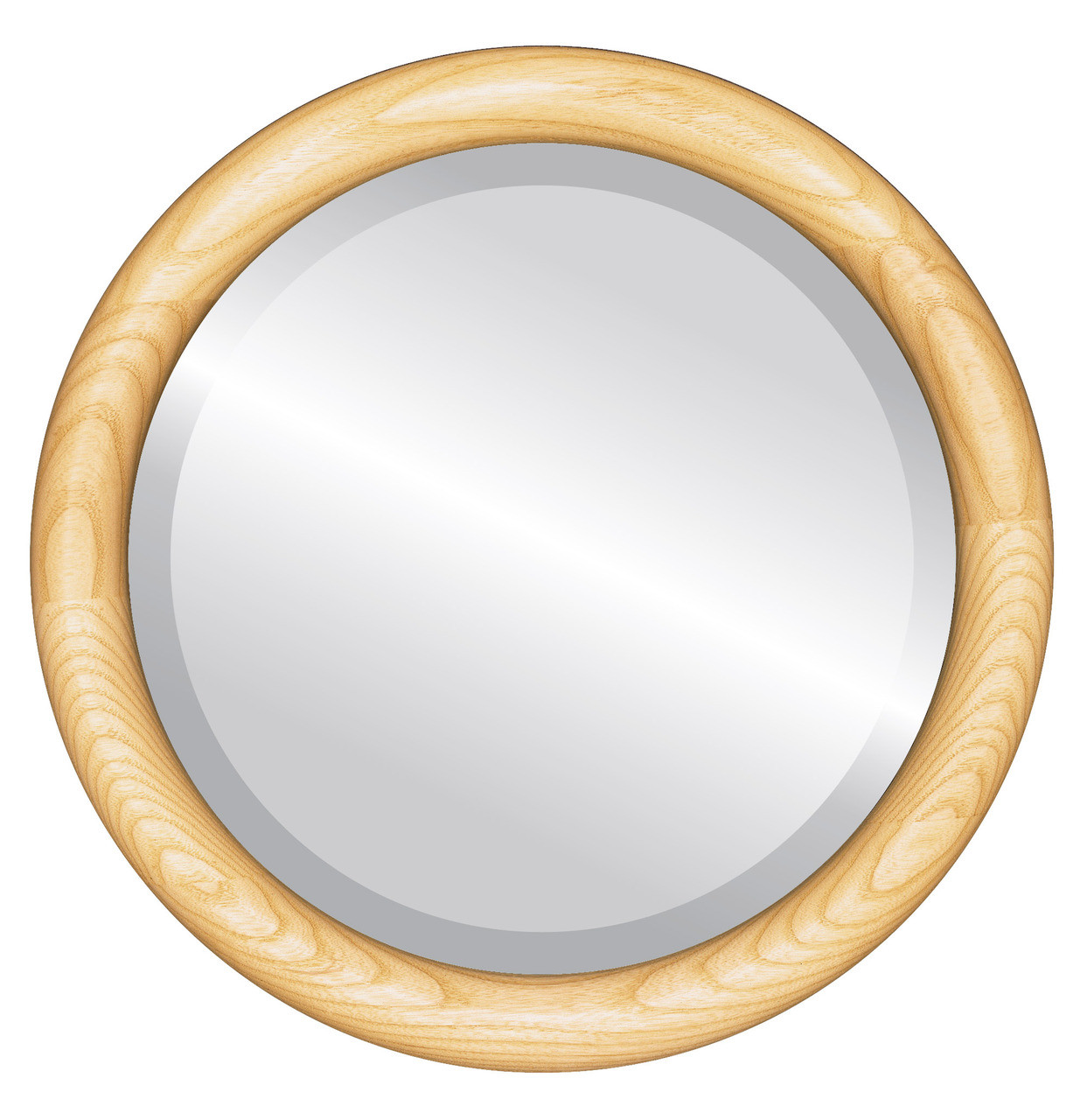 Brown Round Mirrors from $118| Sydney Honey Oak| Free Shipping