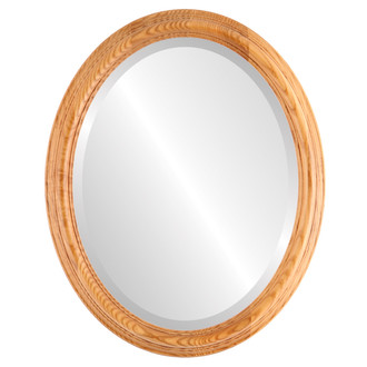 Melbourne Beveled Oval Mirror Frame in Carmel