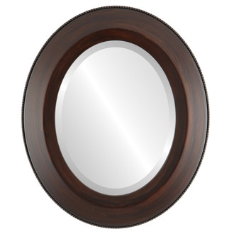 Lombardia Beveled Oval Mirror Frame in Mocha