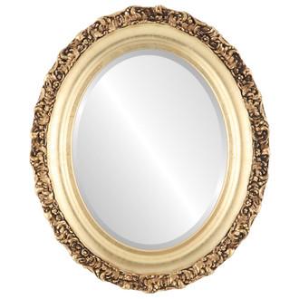 Venice Beveled Oval Mirror Frame in Gold Leaf