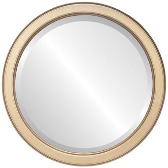 Toronto Beveled Round Mirror Frame in Desert Gold