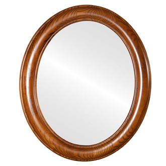 Framed Toasted Oak - Flat Mirror