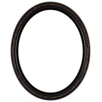Santa Fe Oval Frame #604 - Rubbed Bronze
