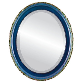 Kensington Beveled Oval Mirror Frame in Royal Blue