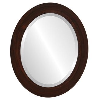 Soho Beveled Oval Mirror Frame in Mocha