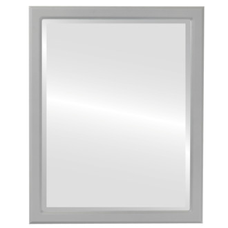 Toronto Beveled Rectangle Mirror Frame in Linen White