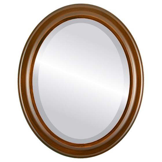 Messina Beveled Oval Mirror Frame in Mocha