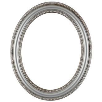 Dorset Oval Frame # 462 - Silver Shade