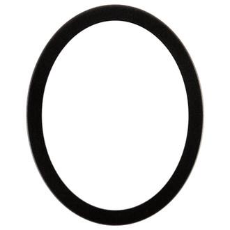 Vienna Oval Frame # 481 - Black Silver