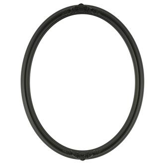 Contessa Oval Frame # 554 - Matte Black