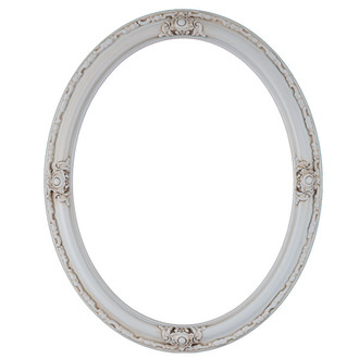 Jefferson Oval Frame # 601 - Antique White