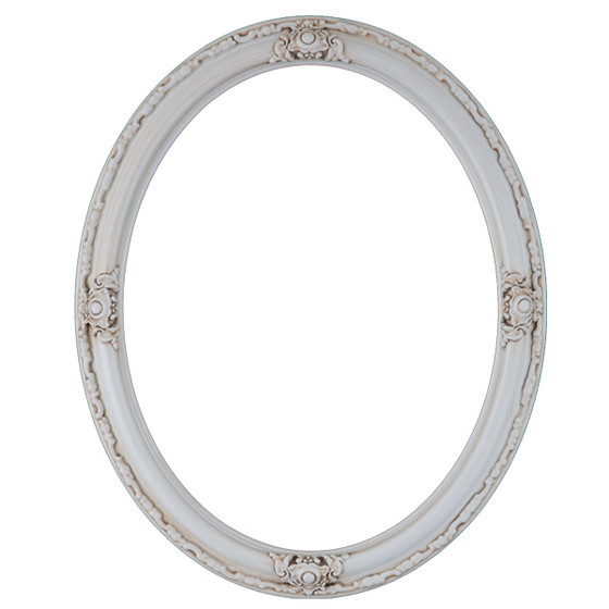 Oval Frame In Antique White White Picture Frames With
