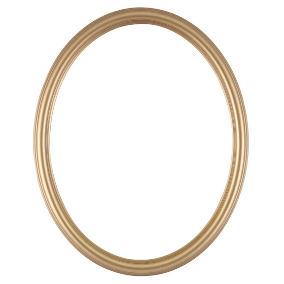 Oval Frame in Desert Gold Finish| Simple Dark Gold Wooden Picture Frames