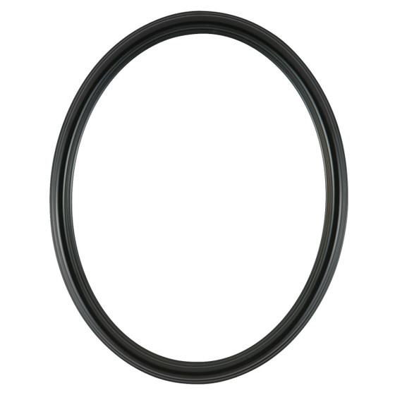 Oval Frame in Gloss Black Finish  Simple Shinny Black Wooden Picture ...
