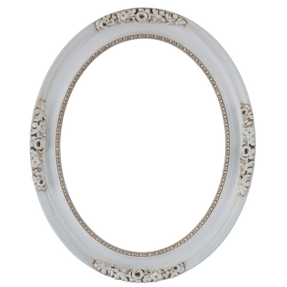Oval Frame in Antique White| White Picture Frames with Antique ...