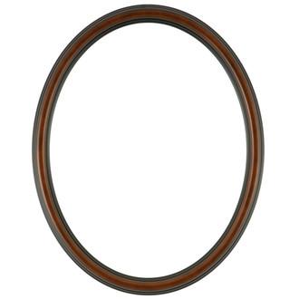 Saratoga Oval Frame # 550 - Walnut