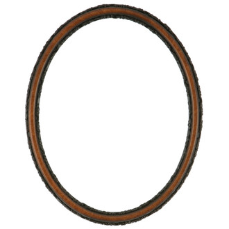 Virginia Oval Frame # 553 - Vintage Walnut
