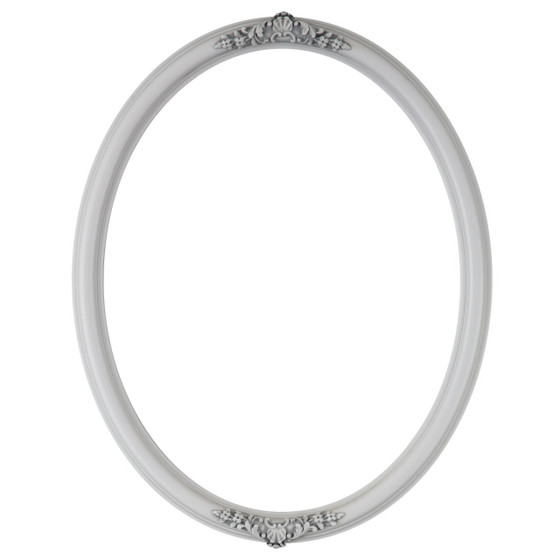 Oval Frame in Linen White Finish| Vintage White Picture Frames with ...