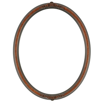 Contessa Oval Frame # 554 - Vintage Walnut