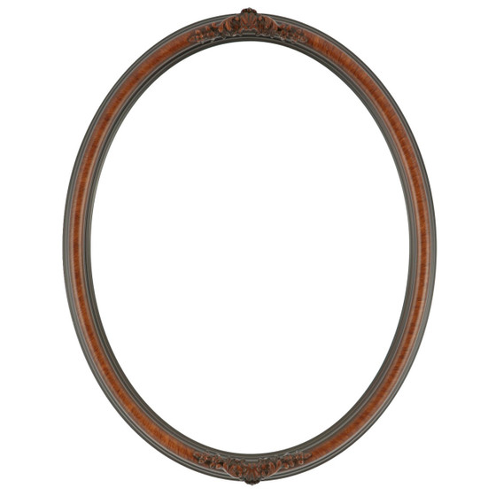 Oval Frame in Vintage Walnut Finish| Antique Stripping on Brown ...