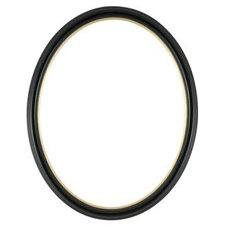 Hamilton Oval Frame # 551 - Gloss Black with Gold Lip
