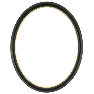 Hamilton Oval Frame # 551 - Matte Black with Gold Lip