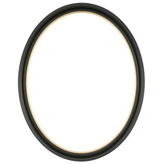 Hamilton Oval Frame # 551 - Matte Black with Gold Lip